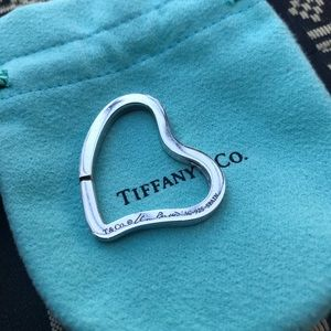 Tiffany Open Heart Key Ring